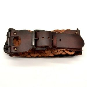 Mossimo Supply Co Womens Wide Leather Belt XL NWT